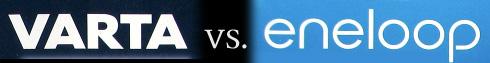 Banner: Varta vs. eneloop