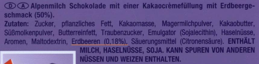 enthält 0,18% Erdbeeren