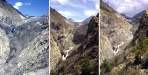 Gletscherschmelze am Aletsch